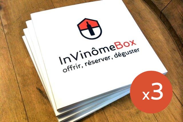 Coffret cadeau oenologie InVinômeBox 3 chèques
